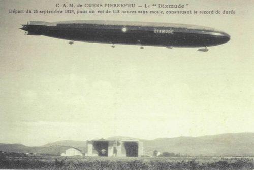 """Adrien et Henri Roustan et """"Dixmude"""", le plus grand ballon dirigeable rigide jamais construit"""