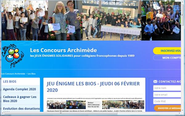 Distinction de 3 élèves de 6èmes au jeu-énigme Les BIOS 2020